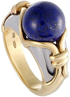 Bulgari Heritage  18K Two-Tone Lapis Lazuli Ring