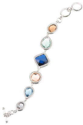 Multi Colored Crystal Toggle Bracelet