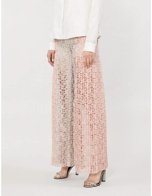 HUISHAN ZHANG Mariela flared stretch-lace trousers