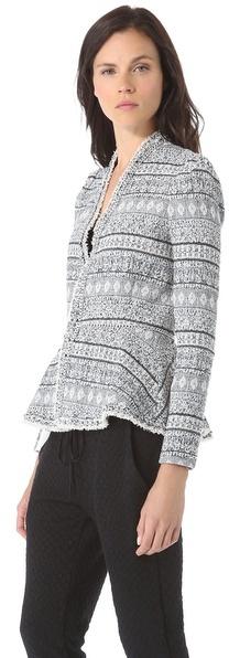 Rebecca Taylor Tweed & Chains Jacket