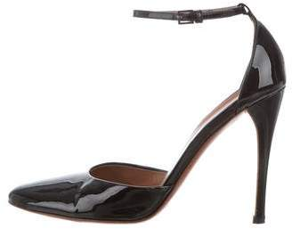 Alaia Patent Leather Ankle Strap Sandals