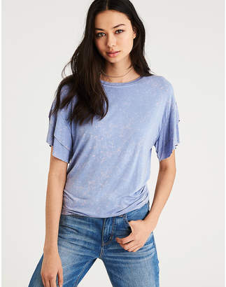 American Eagle AE Soft & Sexy Double Ruffle Sleeve T-Shirt