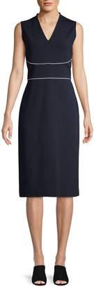 Lafayette 148 New York V-Neck Sleeveless Sheath Dress