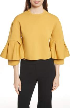 Tibi Sculpted Tiered Sleeve Top