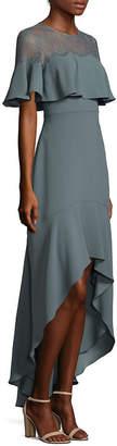 BCBGMAXAZRIA Barbara High-Low Ruffle Gown