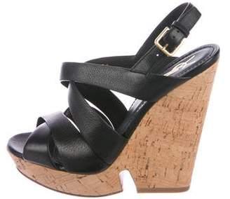Saint Laurent Platform Wedge Sandals