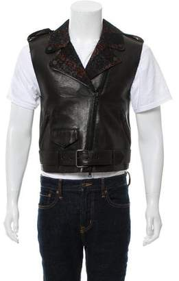 Edun Leather Biker Vest