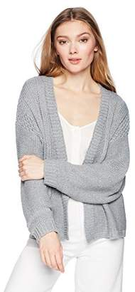 Cable Stitch Women's Loose-Knit Cardigan Sweater
