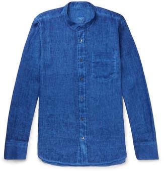 120% - Grandad-Collar Slub Linen Shirt