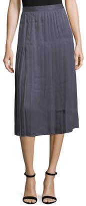 Lafayette 148 New York Sabilla Posh Twill Pleated Skirt