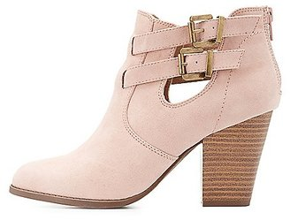 Buckled Cut-Out Ankle Booties $40.99 thestylecure.com