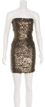 Alice + Olivia Strapless Sequined Dress