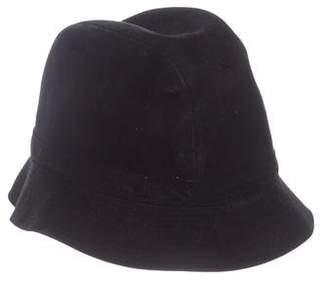 Philip Treacy Suede Bucket Hat