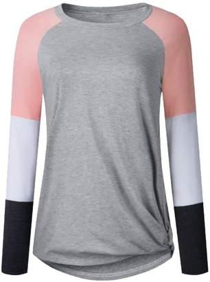 3d4df296 Goodnight Macaroon 'Gracie' Multi-Color Block Long Sleeve Baseball T- Shirt  (