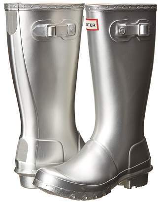 Hunter Original Metallic Rain Boot Girls Shoes