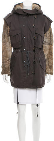 3.1 Phillip Lim 3.1 Phillip Lim Fur Hooded Coat