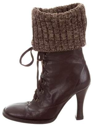 Dolce & Gabbana Leather Mid-Calf Boots