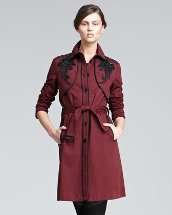 Jason Wu Embroidered Twill Trenchcoat