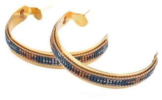 Mishky Zamak Italian Thread Open Hoop Earrings