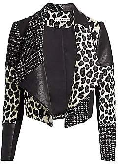 Alice + Olivia Women's Harvey Patchwork Draped Jacket
