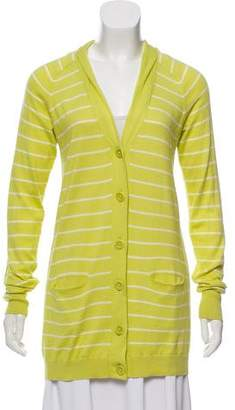 Vince Striped Long Sleeve Cardigan