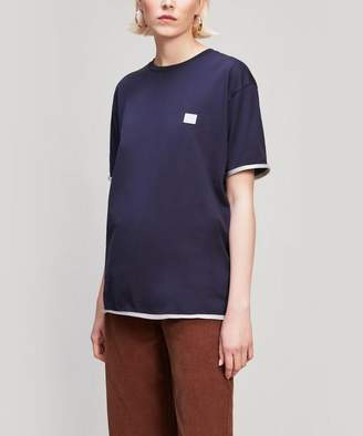 Acne Studios Elmo Contrast Face Patch Cotton T-Shirt