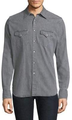 Eleventy Washed Western Shirt