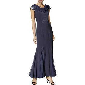 Alex Evenings Women's Long Fit and Flare Dress with Cowl Neckline and Back