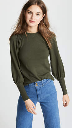 Apiece Apart Dewi Puff Sleeve Sweater