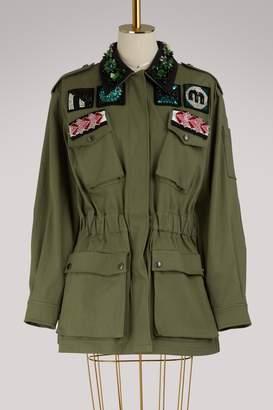 Miu Miu Embroidered safari jacket