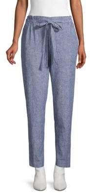 BeachLunchLounge Pinstripe Linen & Cotton Pants