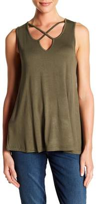 Bobeau Cross Front Sleeveless Tank