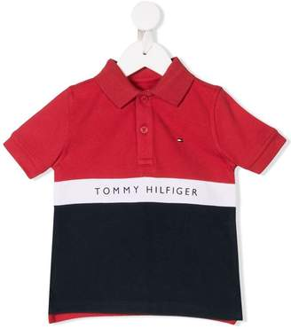Tommy Hilfiger Junior colour block polo shirt