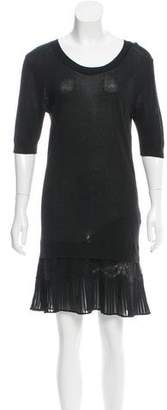 Sandro Pleated-Accented Sweater Dress $85 thestylecure.com