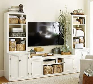 Pottery Barn Logan Media Suite with Cabinet Doors & Bookcase