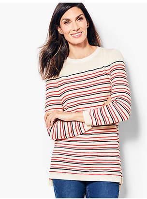 Talbots Pointelle Sweater - Striped