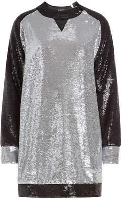 Balmain Sequinned Sweat Dress