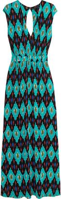 Vix Rumis Samanta printed stretch-ponte maxi dress $228 thestylecure.com