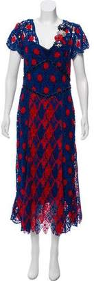 Marc Jacobs Embroidered Evening Dress