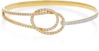 Kavant & Sharart Eternity Knot 18K White Gold And Diamond Bracelet
