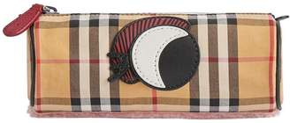 Burberry Monster Motif Vintage Check Pencil Case