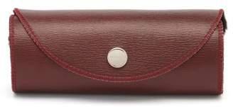 John Lobb Leather And Wool Shoe Buffing Glove - Mens - Burgundy