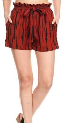 S&G Apparel Rust Tie-Dye Shorts