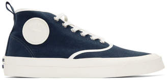 MAISON KITSUNÉ Blue High-Top Sneakers