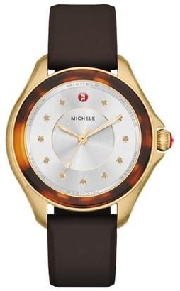 Women's Michele Cape Silicone Strap Watch, 40Mm $345 thestylecure.com