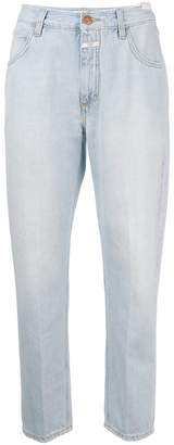 Closed straight-leg cropped jeans