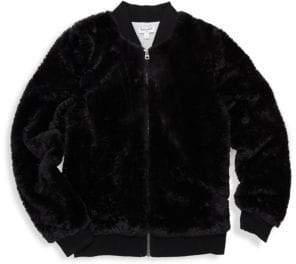 Splendid Baby Girl's Gramercy Faux Fur Bomber Jacket
