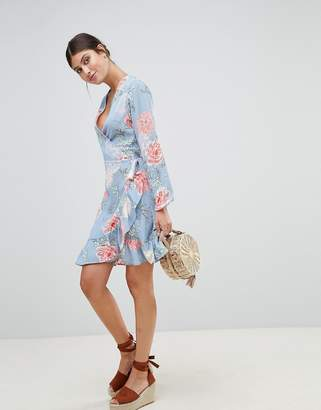 PrettyLittleThing Floral Wrap Dress