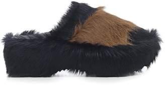 Marni Fur Trimmed Mules