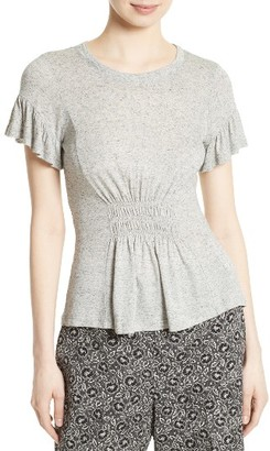 Women's Rebecca Taylor Ruched Jersey Top $195 thestylecure.com